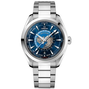 Omega Aqua Terra 150m GMT Worldtimer 43mm - Steel/Steel