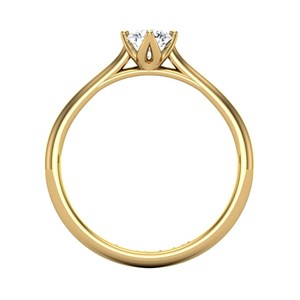 Beards Round Brilliant Cut Engagement Ring, 0.33ct E/VS2