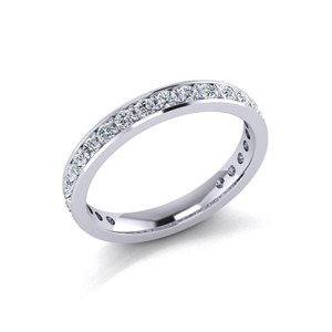 Beards Diamond & Platinum Eternity Ring