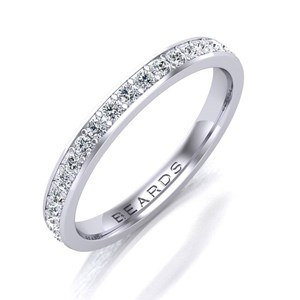 Beards Platinum & Diamond Eternity Ring