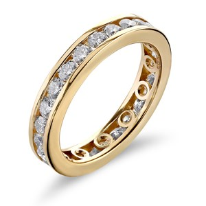 Beards Diamond & Rose Gold Eternity Ring