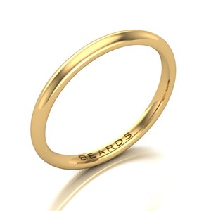 Beards 18ct Yellow Gold Wedding Band