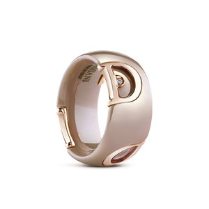 Damiani D.icon Cappuccino Ceramic Diamond Ring
