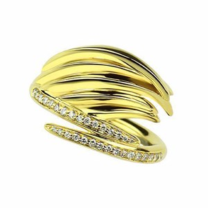 Shaun Leane Yellow Gold Vermeil Feather Diamond Ring