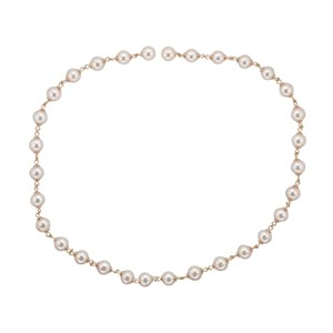 Beards 9ct Yellow Gold & Pearl Necklace