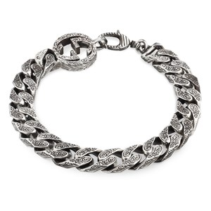 Gucci Interlocking G Silver Chain Bracelet