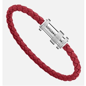 Montblanc Red Leather Bracelet