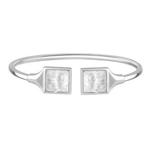 Lalique Clear Crystal & Silver Arethuse Flexible Bangle