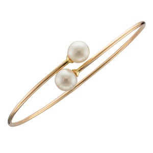 Beards 9ct Yellow Gold Pearl Bangle