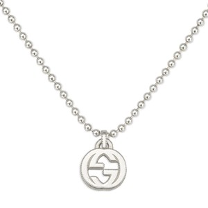 Gucci Interlocking G Silver Necklace
