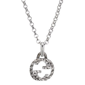 Gucci Interlocking G Silver Pendant Necklace