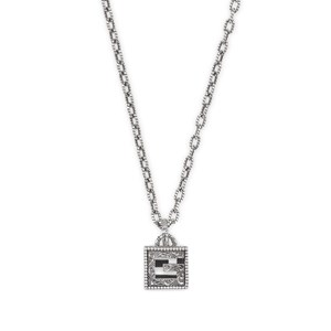 Gucci G Cube Silver Necklace