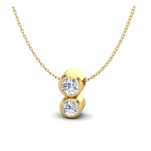 Beards Galaxy 18ct Yellow Gold & Diamond Mini Pendant