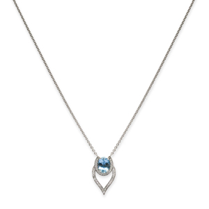 Beards Aquamarine & Diamond Pendant