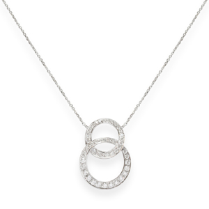 Beards Diamond Double Circle Pendant