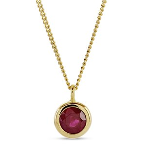 Beards Ruby & Gold Pendant
