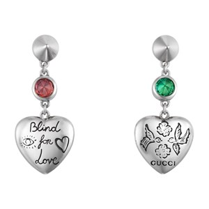 Gucci Blind For Love Heart Drop Earrings
