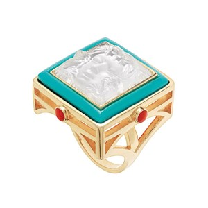 Lalique Arethuse Clear Ring Vermeil