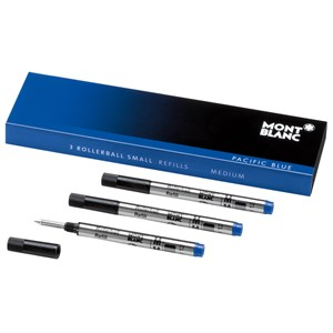 Montblanc Pacific Blue Rollerball Small Refills (M) Pack of 3