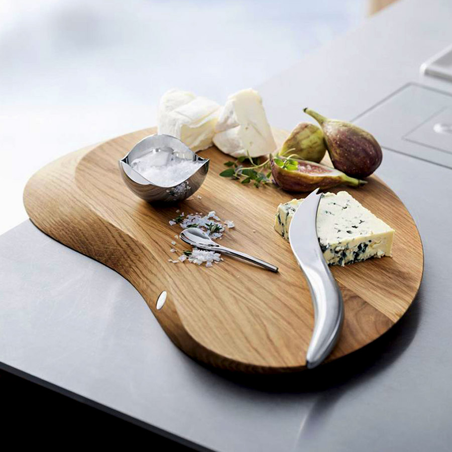 Georg Jensen Forma Cheese Board with Cheese Knife