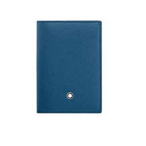 Montblanc Meisterstück Petrol Blue Leather Card Holder
