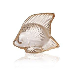 Lalique Gold Luster Fish Sculpture