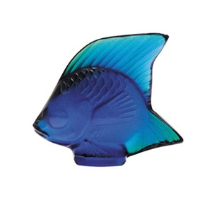 Lalique Blue Fish Sculpture 10363800
