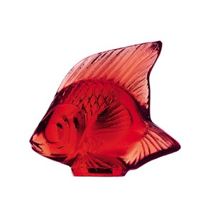 Lalique Golden Red Fish Sculpture 3003100