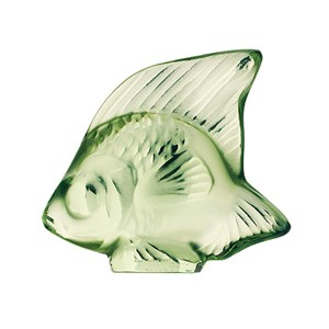 Lalique Light Green Crystal Fish Sculpture