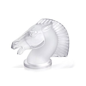 Lalique Clear Crystal Longchamp Horse Sculpture