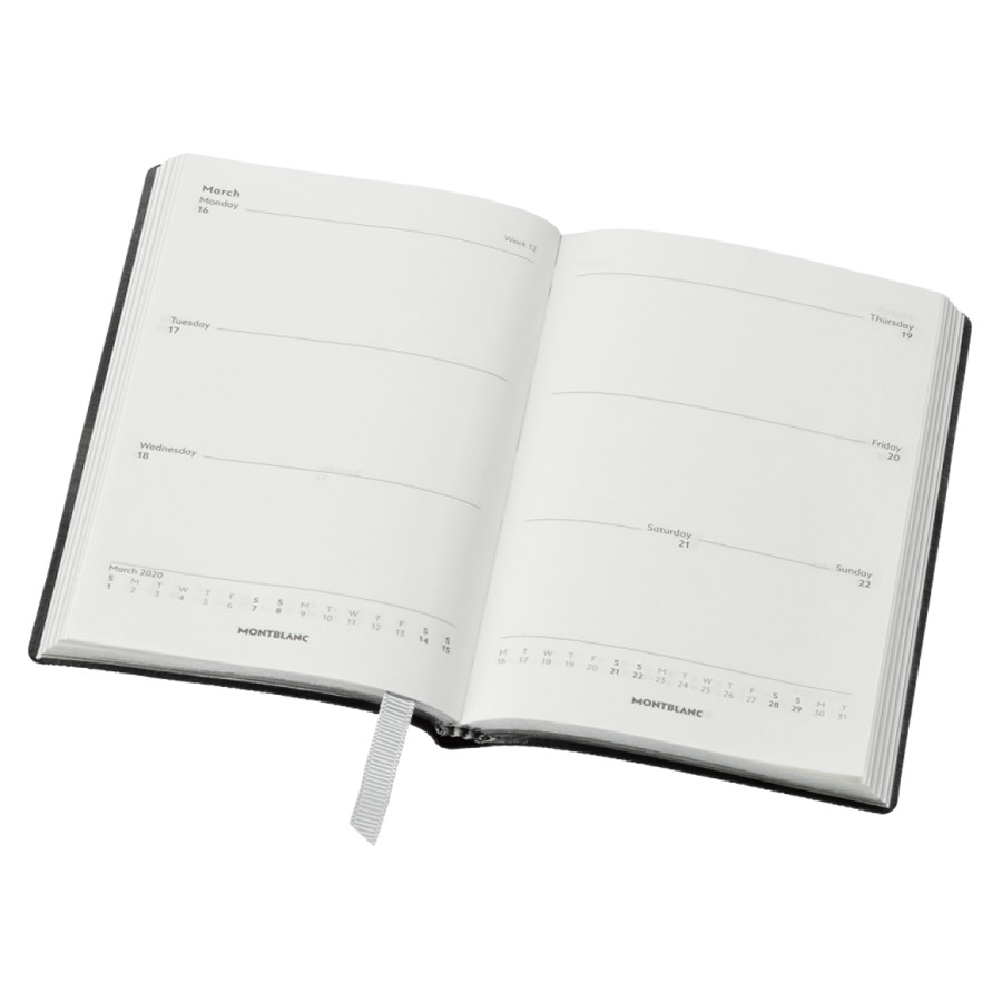 Montblanc Fine Stationery 147 Black 18-Month Weekly Diary 2019-20