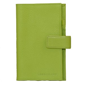 Longchamp Spring Green Foulonne Leather Diary Case