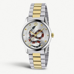 Gucci G-Timeless Gold-Plated Snake Motif Watch