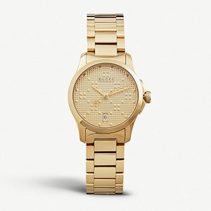 Gucci G-Timeless Gold-Plated Stainless Steel Watch
