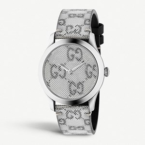 Gucci G-Timeless Stainless Steel & Leather Watch