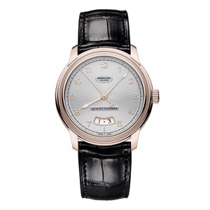 Parmigiani Fleurier Toric Qualite Fleurier Red Gold Silver Guilloche Watch
