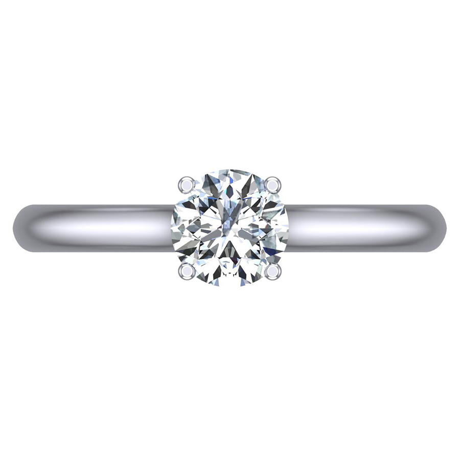 Solitaire Four Claw Diamond Engagement Ring, 0.50ct