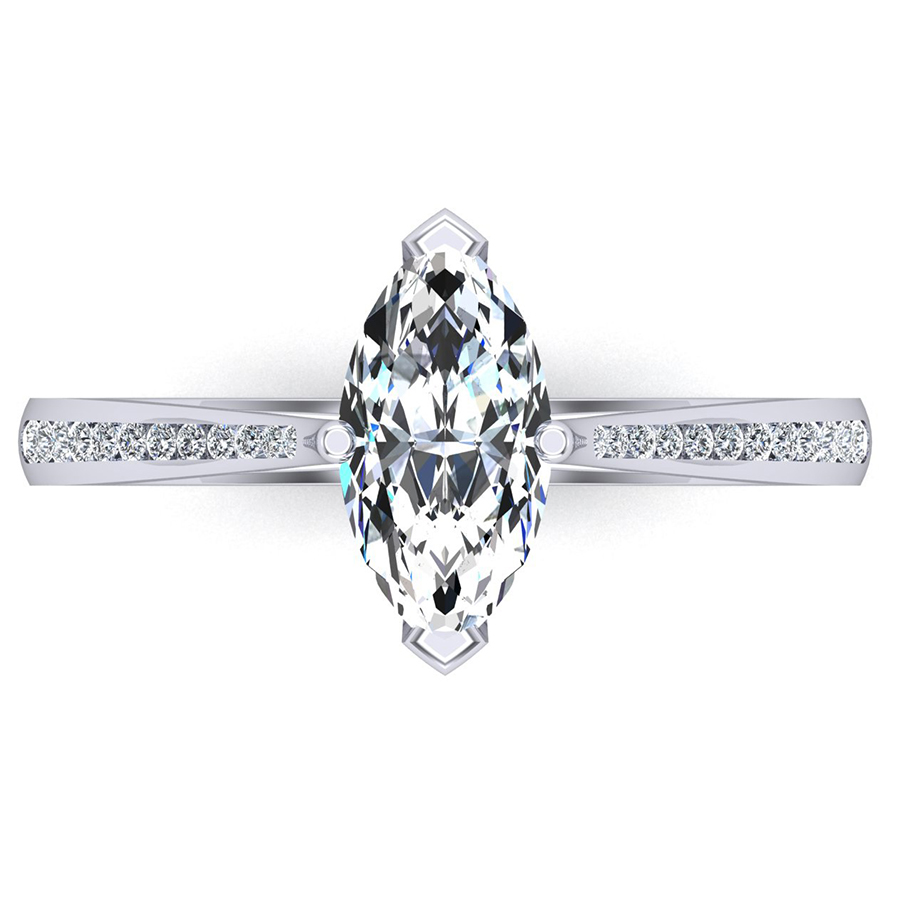 Beards Marquise Cut Single Stone, Claw Set Shoulders, 1.52ct