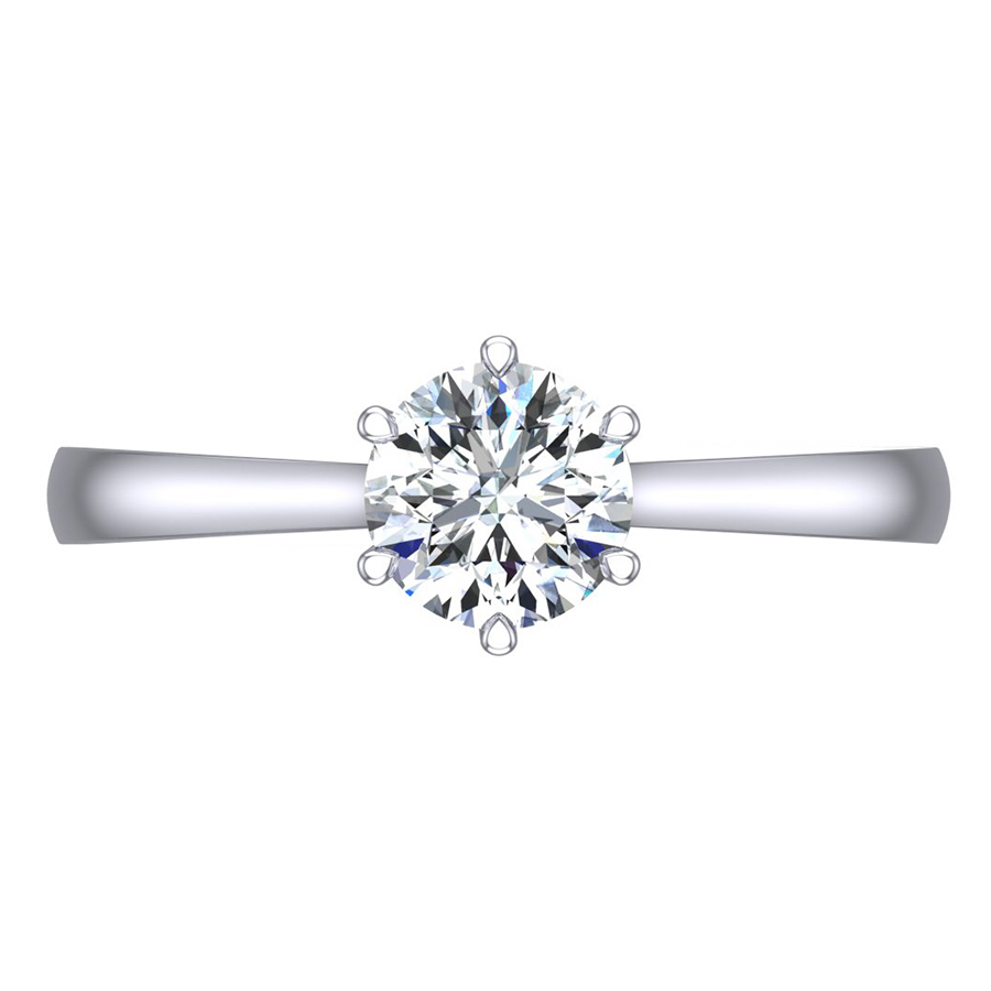 Round Brilliant Cut Diamond Engagement, 0.90cts