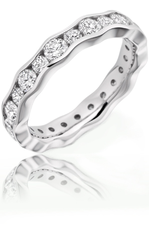 Beards Diamond Waved Eternity Ring, 1.90ct