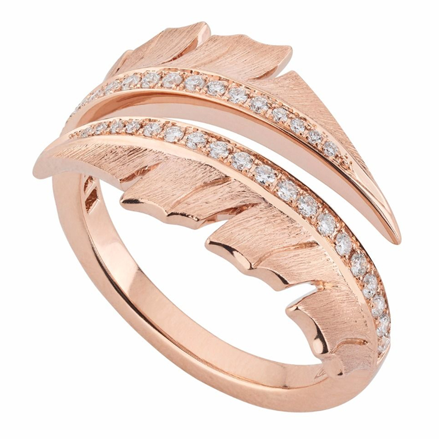 Stephen Webster Rose Gold Pave Ring WR1056 WG WD XXX