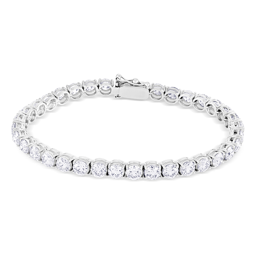 Diamond Classic Line Bracelet, 14.12ct