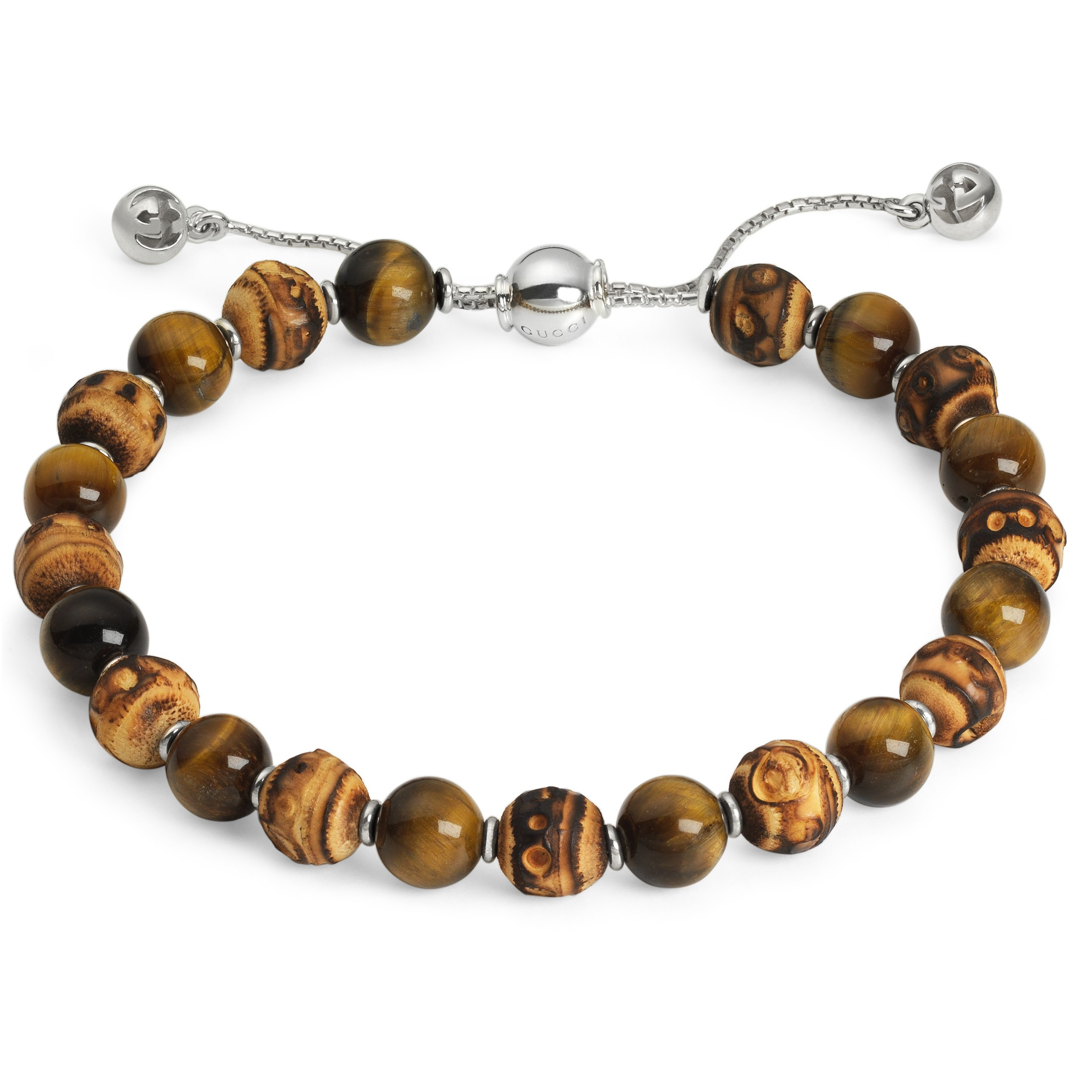 Gucci Bamboo and Tigers Eye Bamboo Bracelet YBA298171003