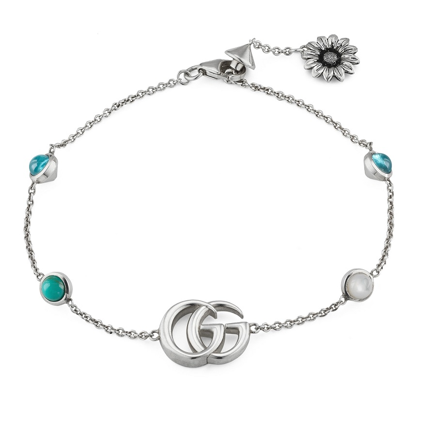 Gucci Double G Flower Ring Bracelet YBA527393001018