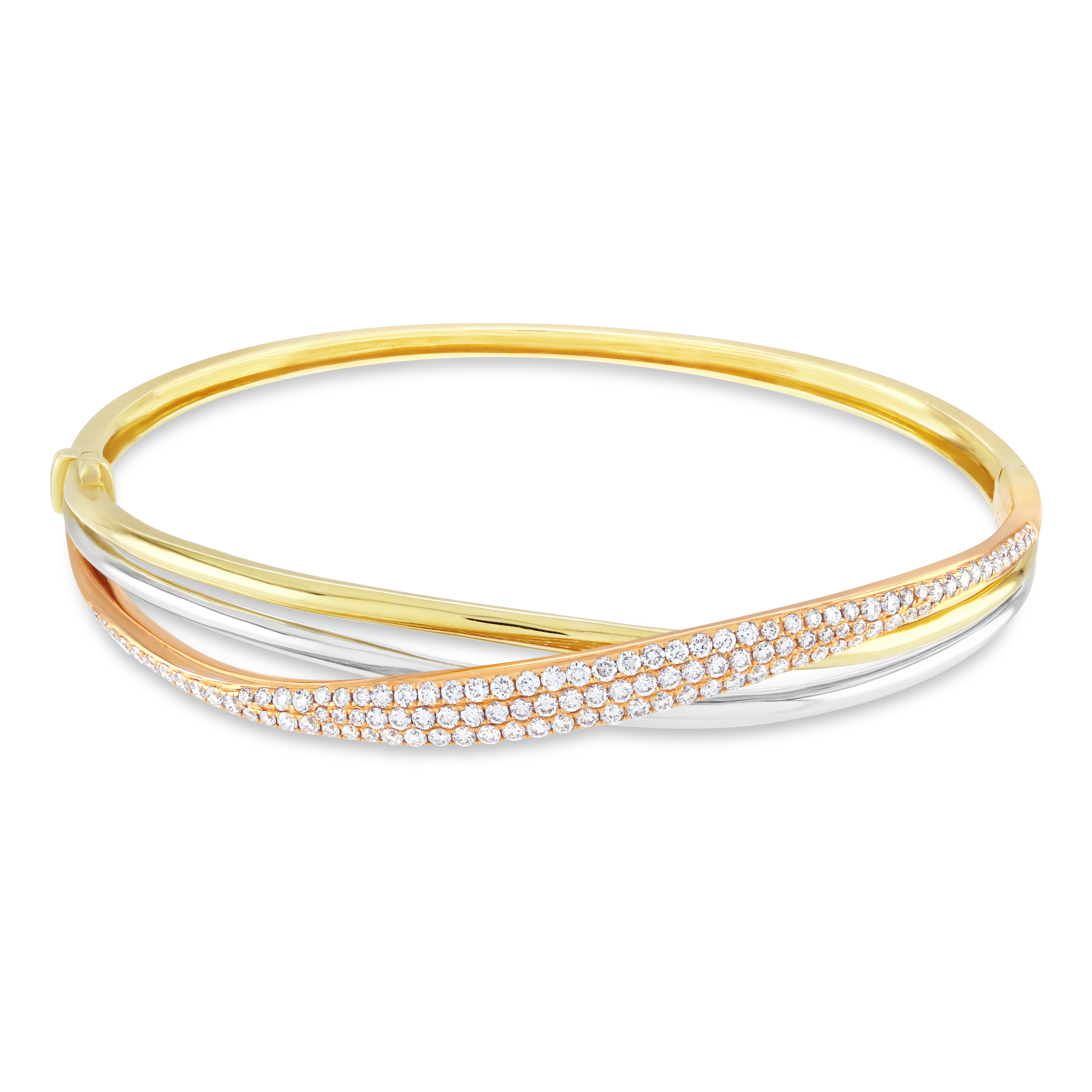 Fixed Russian Diamond Set Bangle