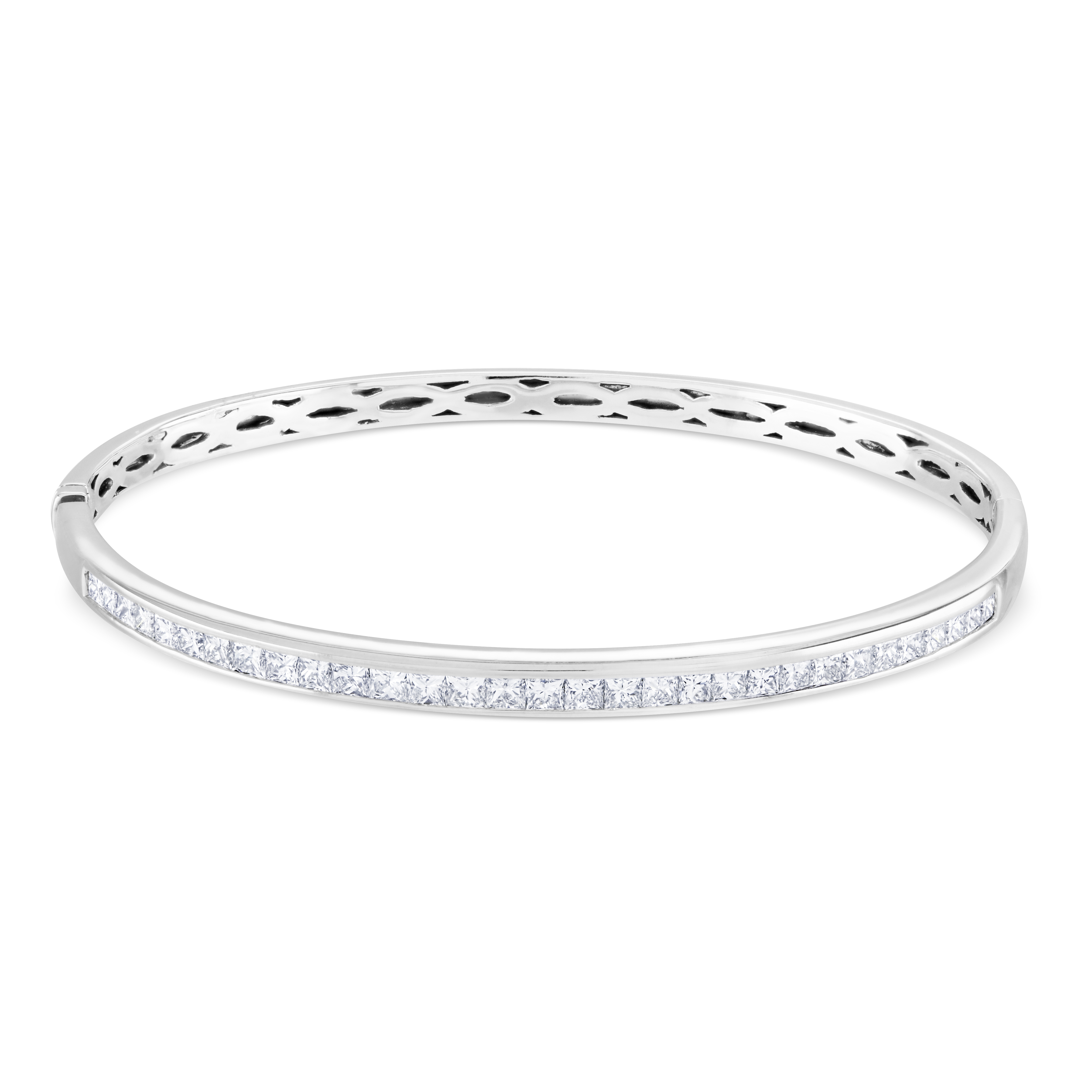 Princess Cut Diamond Bangle