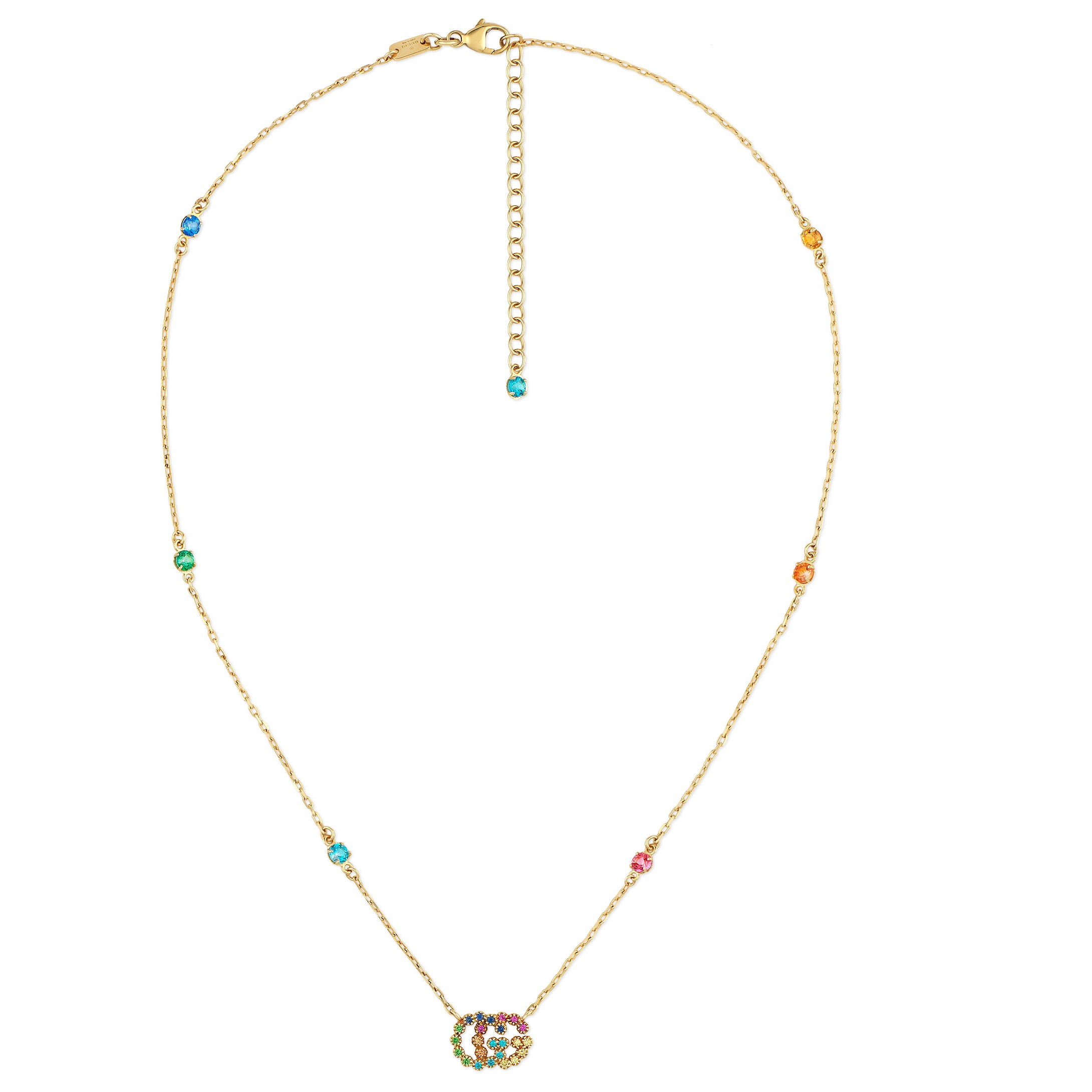 Gucci Multi Coloured Stone Necklace YBB481623001