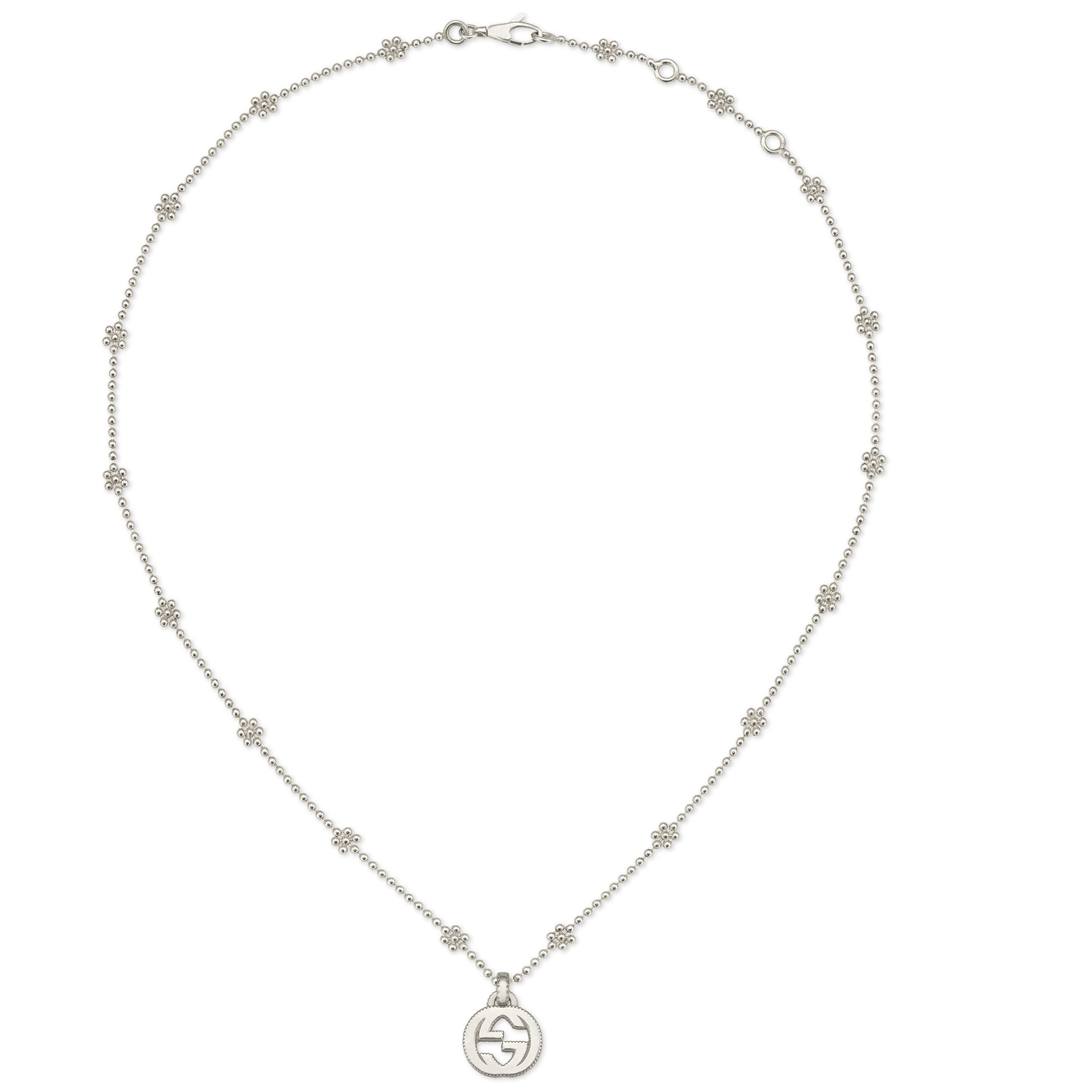Gucci Interlocking G necklace in silver YBB479221001