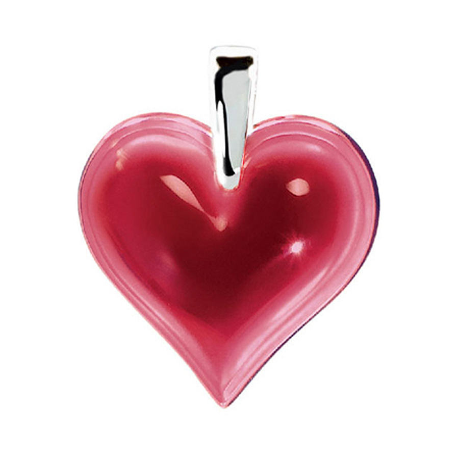 Lalique Small Red Heart Pendant 7772200