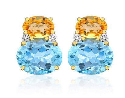 Kiki Blue Topaz & Citrine Earrings